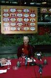 女王/王后MARGRETHE设计圣诞节邮票 库存照片