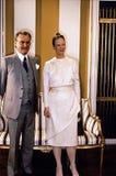 女王/王后MARGTRETHE 50 YEARA生日周年 免版税库存图片
