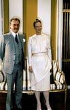 女王/王后MARGTRETHE 50 YEARA生日周年 免版税图库摄影