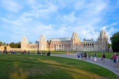 女王Ekaterina宫殿其次伟大在Tsaritsino,莫斯科, Ru 免版税库存图片