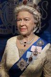 女王Elisabeth II英国(蜡象) 库存照片