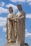 女王Gisela国王斯蒂芬和雕象  免版税图库摄影