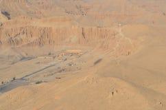 女王Hatshepsut,古埃及寺庙  库存图片
