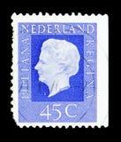 女王Wilhelmina (1880-1962), serie,大约1972年 免版税库存照片