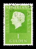 女王Wilhelmina (1880-1962), serie,大约1969年 图库摄影