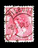 女王Wilhelmina (1880-1962), serie,大约1899 免版税库存图片