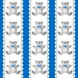 女用连杉衬裤涉及在蓝色无缝的样式的白色小垫布 皇族释放例证
