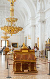 女皇凯瑟琳桃花心木局II,偏僻寺院,圣Petersbur 免版税库存照片