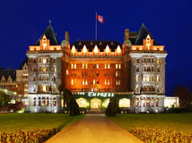 女皇旅馆在维多利亚,加拿大 免版税图库摄影