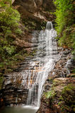 女皇瀑布-蓝山山脉,澳大利亚 免版税库存图片