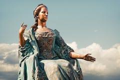 女皇玛丽亚雕象  图库摄影