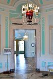 女皇的卵形闺房在Gatchina宫殿 免版税图库摄影