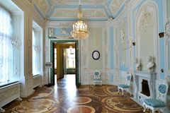 女皇Gatchina的Palac玛丽亚Fyodorovna的洗手间 免版税图库摄影
