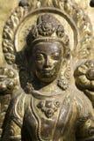 女神印度雕象 库存图片
