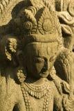 女神印度雕象 免版税图库摄影