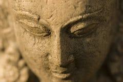 女神印度雕象 库存照片