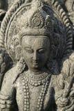 女神印度雕象 免版税库存图片
