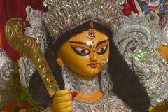女神杜尔加祝福和祷告  免版税库存照片