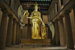 女神雅典娜雕象  免版税库存照片