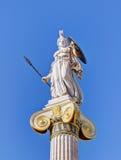 女神雅典娜,雅典,希腊雕象  免版税库存图片