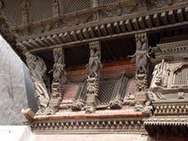 女神kumari寺庙 免版税库存照片
