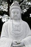 女神kwan雕塑yin 免版税库存照片