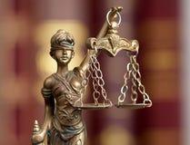 女神Themis 3的小雕象 免版税图库摄影