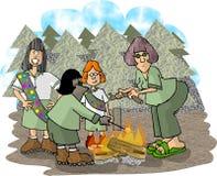 女童子军队伍 库存图片