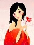女花童红色 向量例证