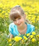 女花童草位于的一点 库存照片