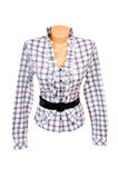 女衬衫典雅的白色 免版税库存图片