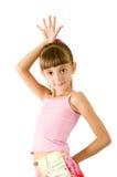 女衬衫女孩粉红色 库存图片