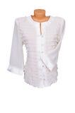 女衬衫时髦白色 免版税库存图片