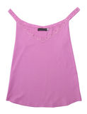 女衬衫鞋带粉红色衬衣背心 库存照片