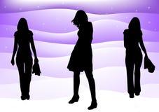 女装设计haute例证 免版税库存图片