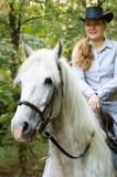 女骑士年轻人 免版税图库摄影
