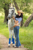 女骑士 免版税图库摄影