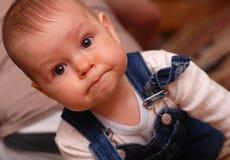 女婴一点 免版税库存图片
