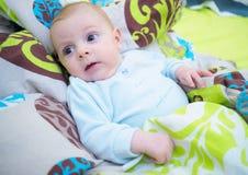 女婴一点 免版税图库摄影