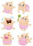 女婴传染媒介集合 免版税库存照片