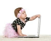 女婴使用 免版税库存图片