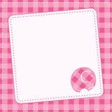 女婴公告卡片。传染媒介例证。 免版税库存图片