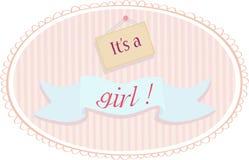女婴公告卡片 库存图片