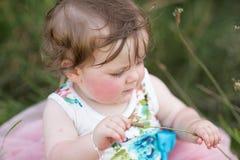 女婴公园 库存照片