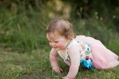 女婴公园 库存图片
