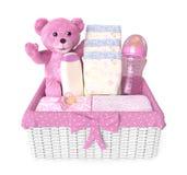 女婴初生婴儿用品 免版税库存图片