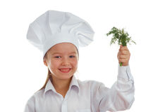女婴厨师 图库摄影