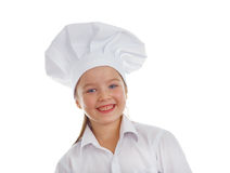 女婴厨师 库存图片