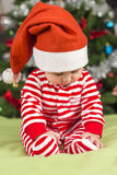 女婴圣诞老人的帮手 免版税图库摄影