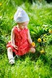女婴夏天 免版税库存图片